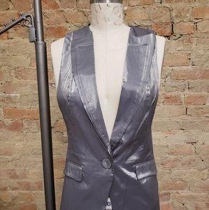 Gray metallic vest